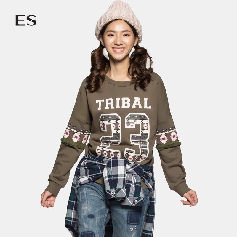 艾格女装 艾格 ES 经典圆领字母数字印花T恤15032889234_推荐淘宝好看的艾格