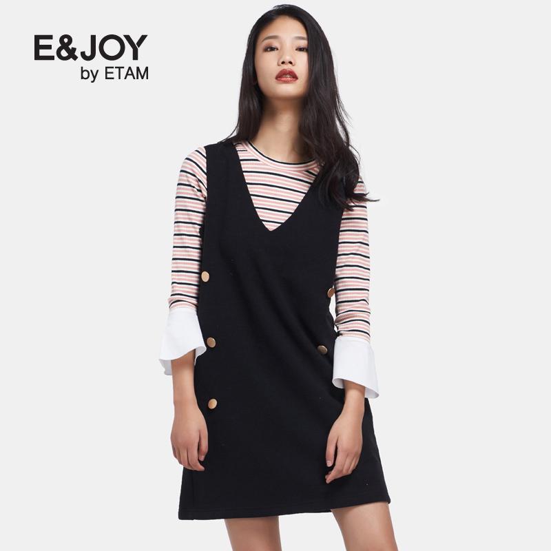 艾格连衣裙 Etam艾格 E&joy 2017春新品时尚休闲背心连衣裙17082202595_推荐淘宝好看的艾格连衣裙