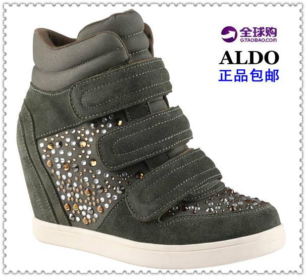 水钻坡跟鞋 【蕊薇时尚】国内现货Aldo奥尔多LACKS水钻内增高坡跟女高帮鞋_推荐淘宝好看的水钻坡跟鞋