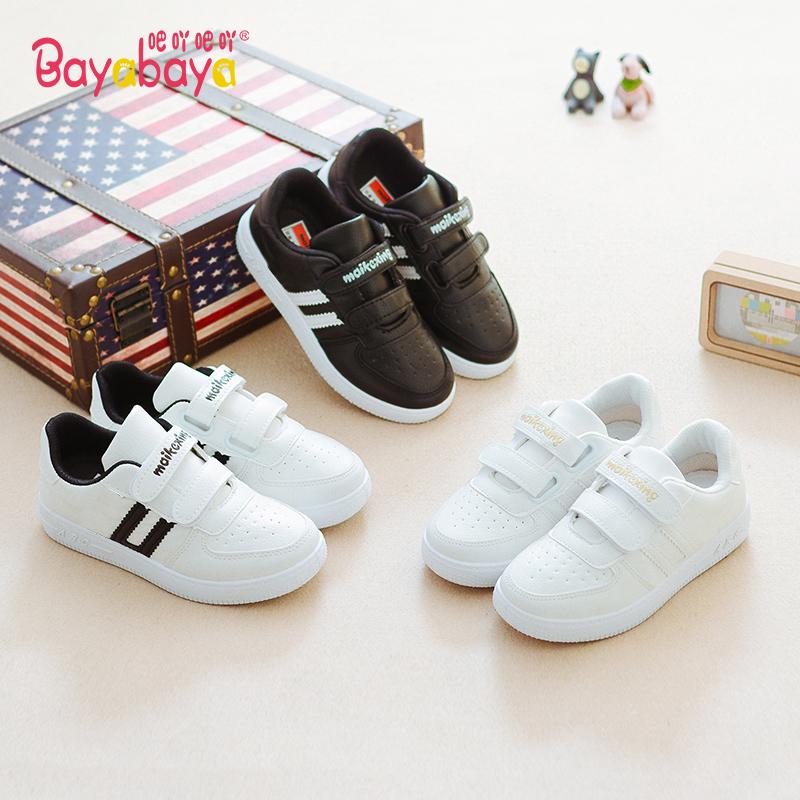 白色运动鞋 吧吖吧吖秋款童鞋男童板鞋白色儿童运动鞋女童宝宝潮鞋加绒休闲鞋_推荐淘宝好看的白色运动鞋