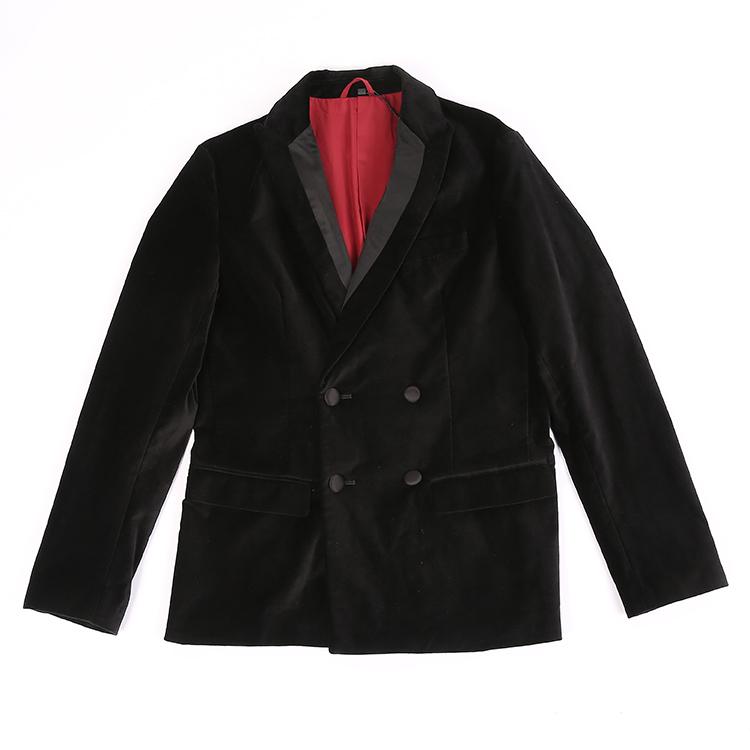 阿玛尼男士西装 纽约大宝 Armani ExchangeAX 男士商务休闲双排扣口袋西服外套_推荐淘宝好看的阿玛尼男西装
