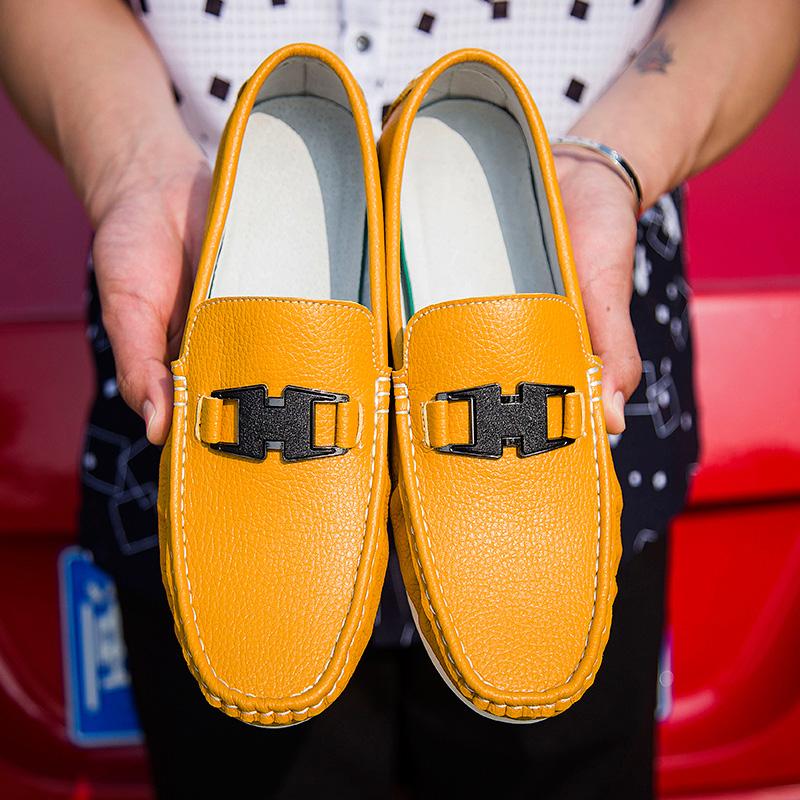 黄色豆豆鞋 2016新款套脚驾车懒人鞋男帆船鞋男士运动休闲鞋黄色豆豆鞋男鞋子_推荐淘宝好看的黄色豆豆鞋
