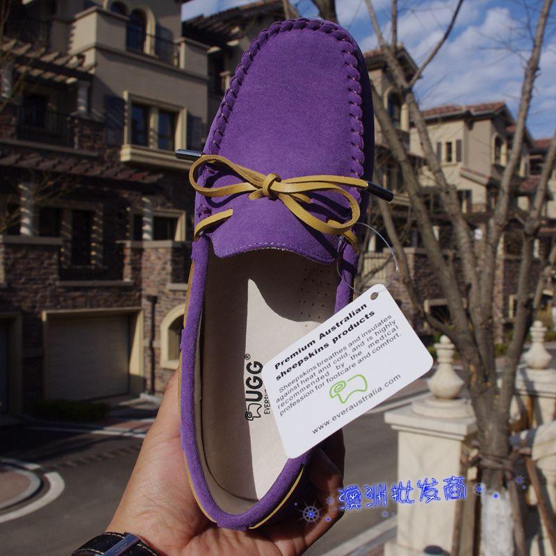 紫色豆豆鞋 澳洲代购 EVER经典款豆豆鞋 开车行走必备 2016升级款 薰衣草紫色_推荐淘宝好看的紫色豆豆鞋
