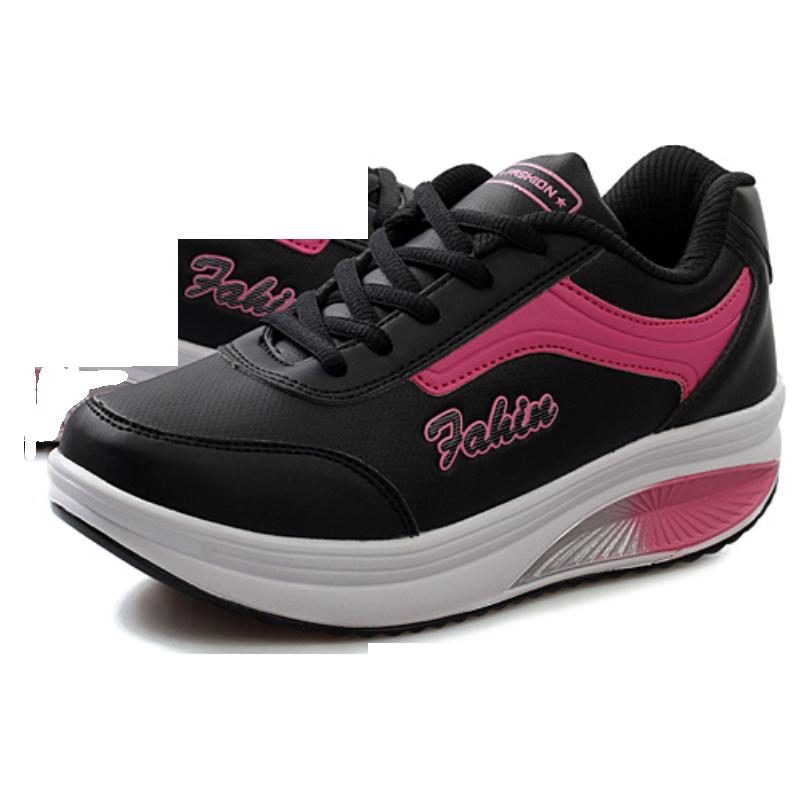 运动鞋 跑步鞋女 春冬季运动鞋女摇摇鞋厚底增高运动休闲女鞋瘦身松糕鞋_推荐淘宝好看的女运动鞋