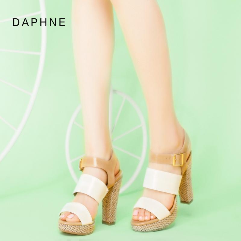 达芙妮高跟凉鞋 Daphne达芙妮 新款 罗马风防水台超高跟粗跟女凉鞋1515303031_推荐淘宝好看的女达芙妮高跟凉鞋