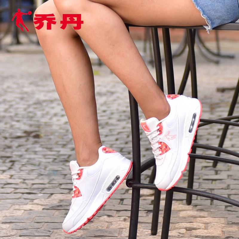 乔丹运动鞋 乔丹女鞋运动鞋2017春季新品气垫鞋女旅游鞋防滑休闲小白鞋跑步鞋_推荐淘宝好看的女乔丹运动鞋