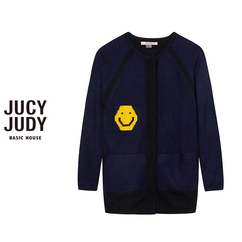 百家好女装 Jucy Judy百家好秋冬长袖针织衫开衫女专柜正品JOKT720F#_推荐淘宝好看的百家好女
