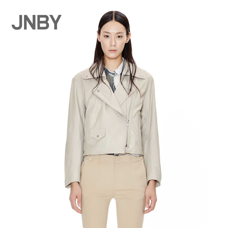 牛皮皮衣 JNBY江南布衣女式时尚修身牛皮革皮衣外套5E62377_推荐淘宝好看的牛皮皮衣女
