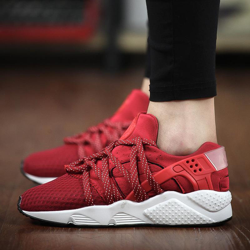 红色运动鞋 2017秋季孕妇女鞋40-43透气运动鞋41 42大码女士休闲跑步鞋子红色_推荐淘宝好看的红色运动鞋