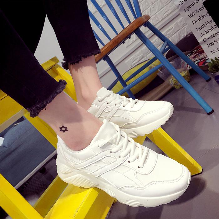 韩版松糕鞋 2016春秋季小白鞋女 松糕底韩版运动鞋 厚底板鞋休闲鞋学生女鞋子_推荐淘宝好看的女韩版松糕鞋