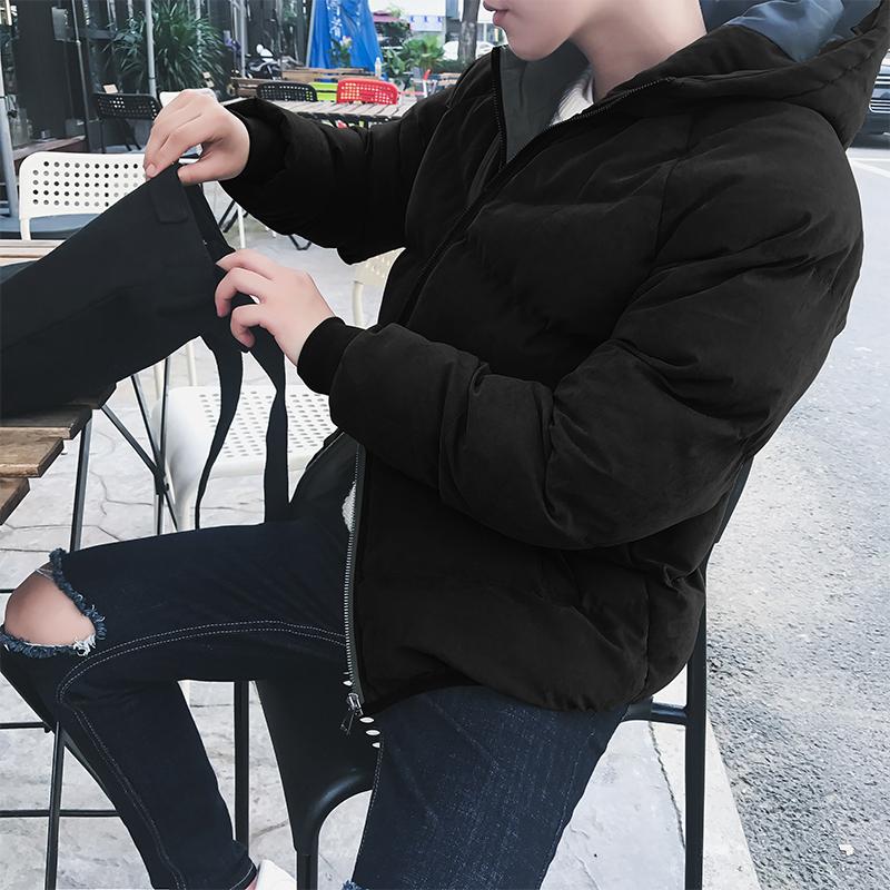 以纯男羽绒服 秋冬季棉衣男装修身之傢韩版青少年海蓝公子花外套羽绒服欧以纯男_推荐淘宝好看的以纯男羽绒服