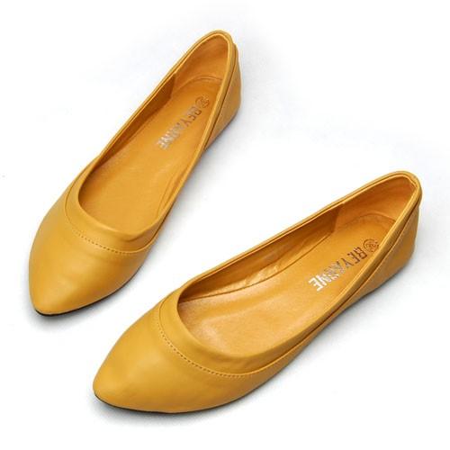 时尚平底鞋 【天天特价】新款平底女鞋 素面软皮软底时尚尖头鞋平底秋款单鞋_推荐淘宝好看的女时尚平底鞋