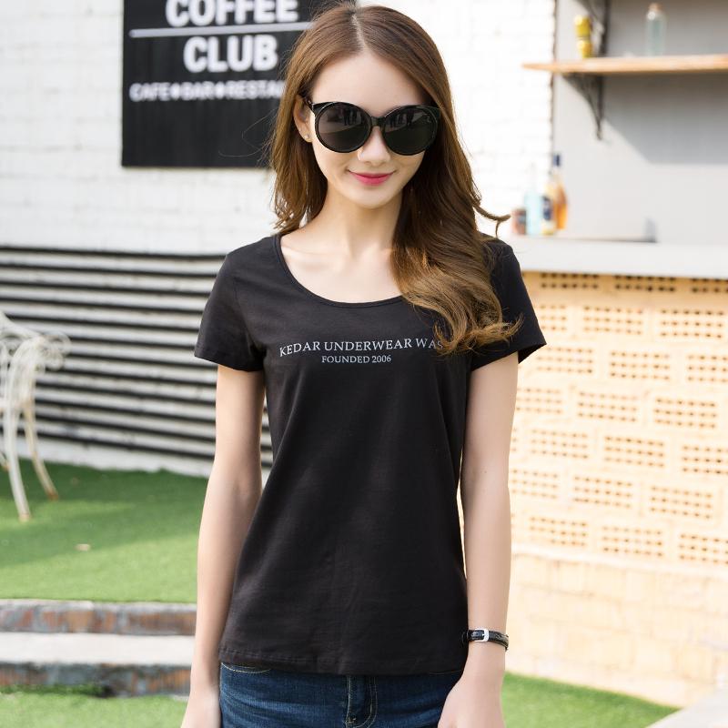 女士短袖t恤 夏季新款T恤女短袖韩版修身学生白色简约修身百搭三件_推荐淘宝好看的女女短袖t恤