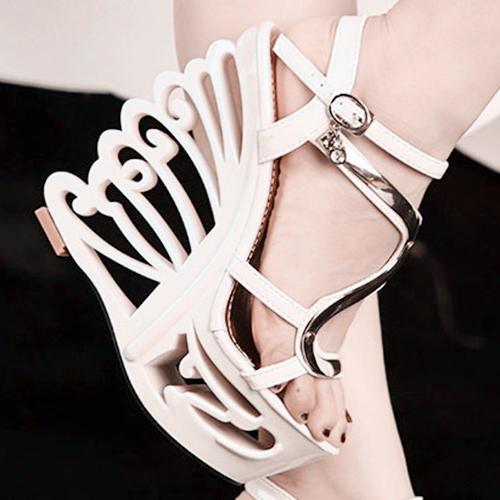 白色罗马鞋 欧美2016新款14cm超高跟坡跟凉鞋女夏季时尚防水台舒适罗马鞋白色_推荐淘宝好看的白色罗马鞋