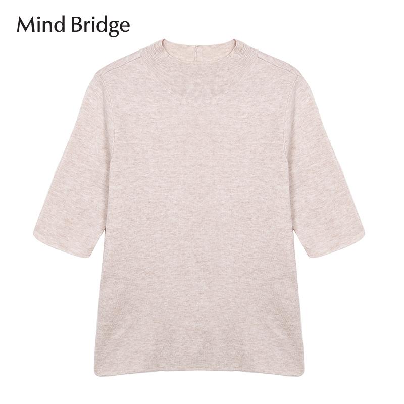百家好女装 Mind Bridge百家好韩版休闲舒适新款女针织衫MQKT523B_推荐淘宝好看的百家好女