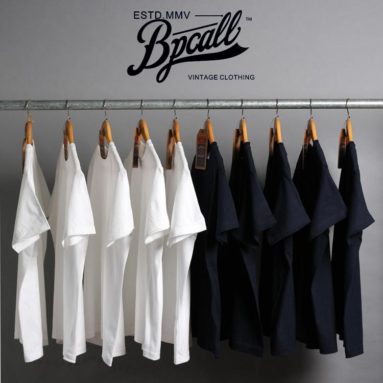 白色T恤 BPCALL1.0 vintage日本重磅厚实纯棉面料短袖T恤男女通款非indigo_推荐淘宝好看的白色T恤