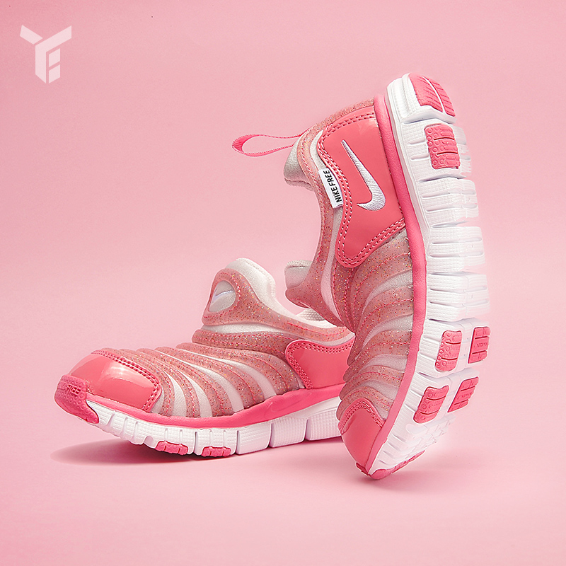 耐克老款运动鞋 NIKE FREE 毛毛虫柔软男女儿童学步鞋婴童运动童鞋 AA721617-600_推荐淘宝好看的女耐克运动鞋