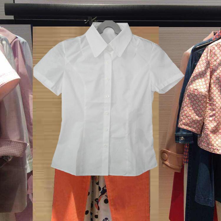 女士白色短袖衬衫 新颖哥弟特2016新款代购百搭修身职业短袖衬衫女夏白色大码衬衣_推荐淘宝好看的女白色短袖衬衫