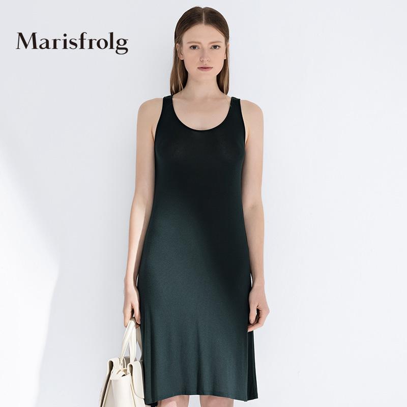 玛丝菲尔女装 Marisfrolg玛丝菲尔夏季女装百搭打底修身长款裙式上衣专柜正品_推荐淘宝好看的玛丝菲尔