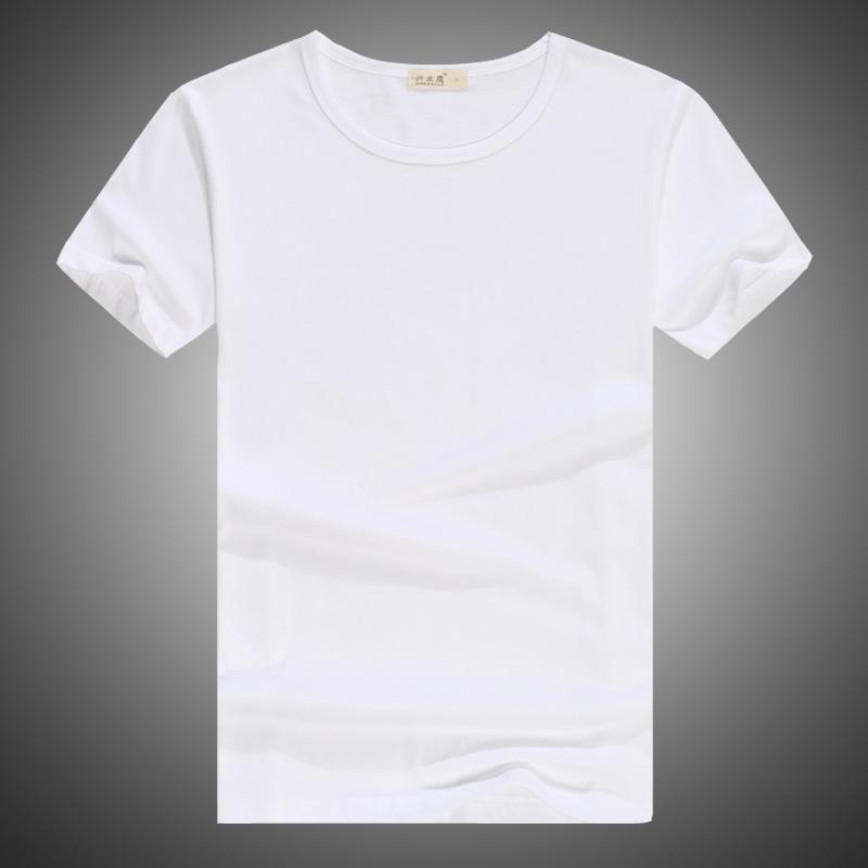 男士圆领T恤 夏季短袖t恤男装圆领纯棉修身打底衫纯色空白半袖韩版潮男上衣服_推荐淘宝好看的男士圆领T恤