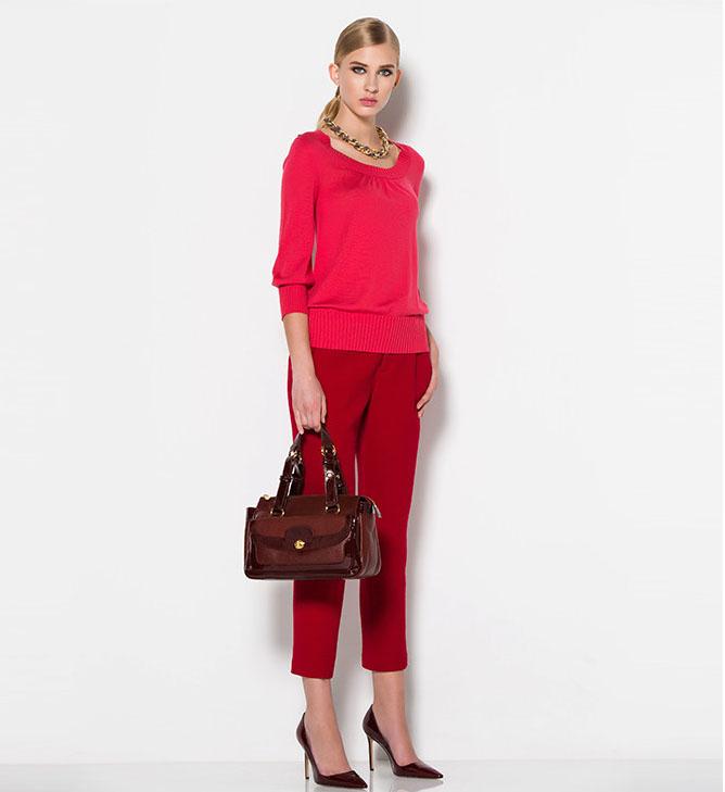 宝姿针织衫 宝姿PORTS女士正品长袖针织衫 羊毛+羊绒  LI2K504HZF001_推荐淘宝好看的ports 针织衫
