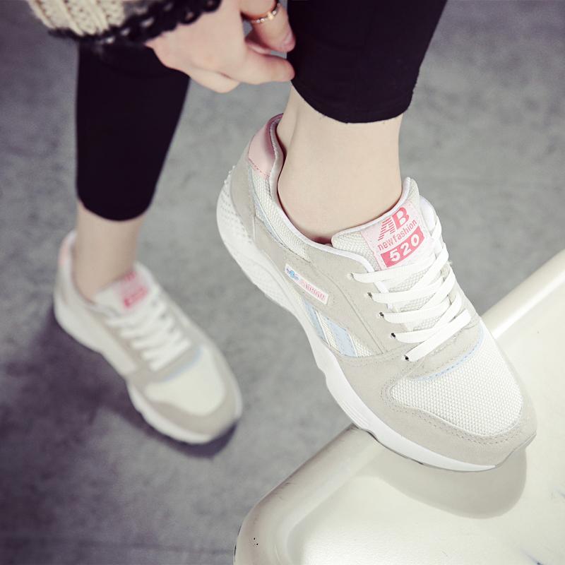 运动鞋 陌瑶2017秋季韩版运动鞋女鞋跑步鞋休闲鞋系带平底女板鞋潮学生鞋_推荐淘宝好看的女运动鞋