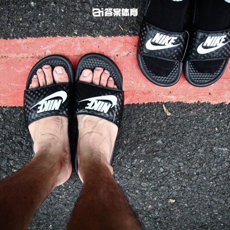 耐克运动鞋图片 NIKE BENASSI JDI 黑白鸳鸯运动拖鞋女男情侣 343881-102-011_推荐淘宝好看的女耐克运动鞋