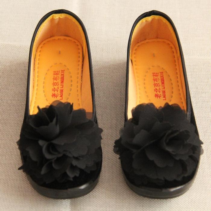 厚底鞋 松糕厚底老北京布鞋女鞋工作鞋黑色平底坡跟高跟跳舞鞋单鞋酒店鞋_推荐淘宝好看的女厚底鞋