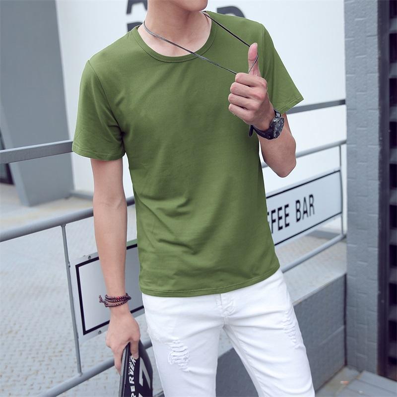 白色T恤 夏季男士t恤短袖纯色青少年学生半袖冬季衣服特价清仓9.9元包邮_推荐淘宝好看的白色T恤