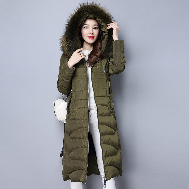 绿色羽绒服 大双家 私人订制 超大貉子毛 保暖羽绒服90%白鸭绒_推荐淘宝好看的绿色羽绒服