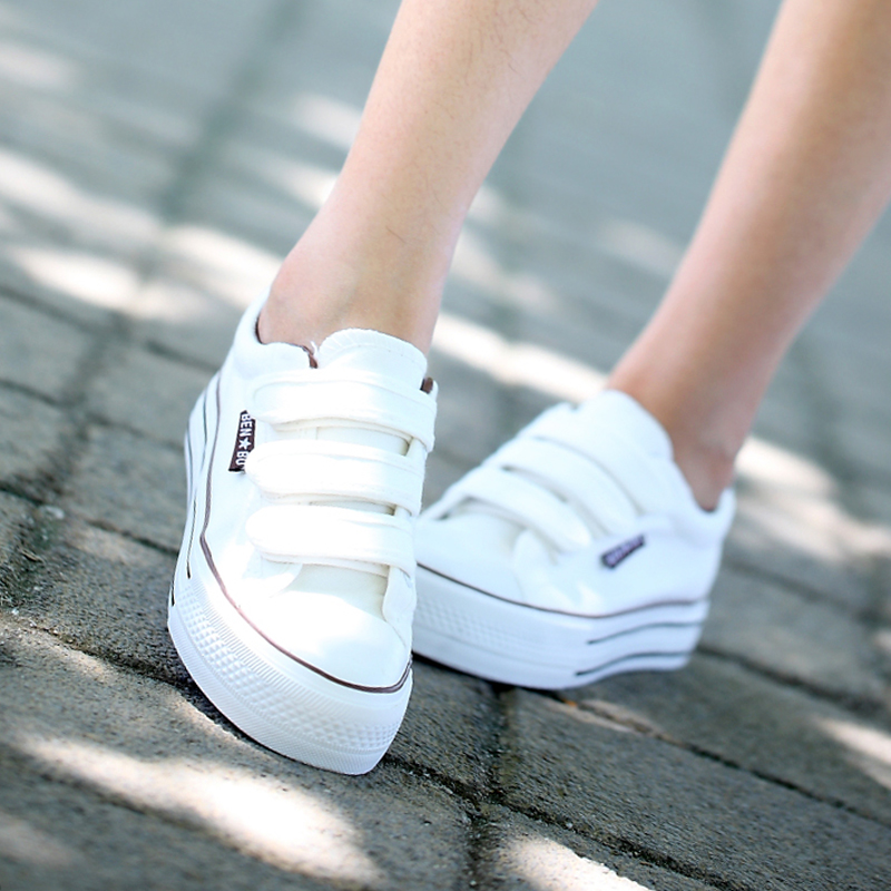 韩版松糕鞋 包邮2017新款韩版女鞋透气帆布鞋懒人鞋学生夏款松糕底布鞋40码_推荐淘宝好看的女韩版松糕鞋