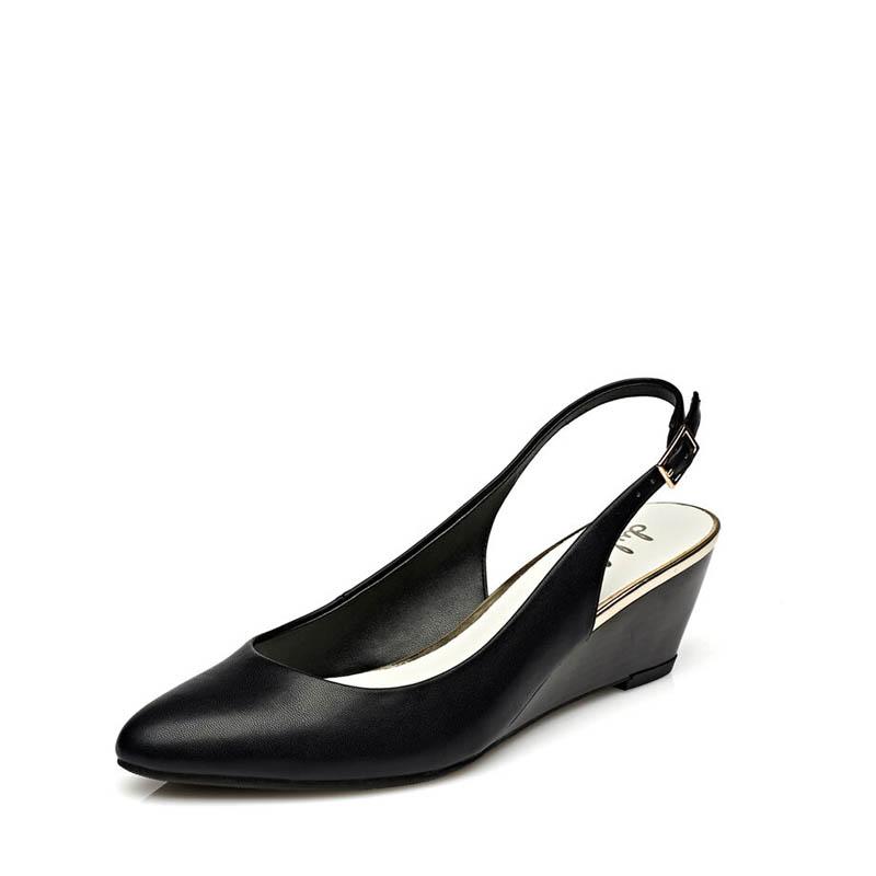 达芙妮单鞋 Daphne达芙妮 杜拉拉系列坡跟后空丁字式扣带女单鞋1715102918_推荐淘宝好看的女达芙妮单鞋