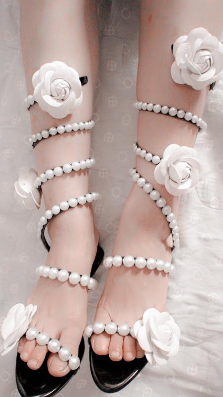 水钻罗马鞋 SEX 独家手工缠绕蛇形雏菊花朵水钻高跟平底罗马凉鞋_推荐淘宝好看的水钻罗马鞋