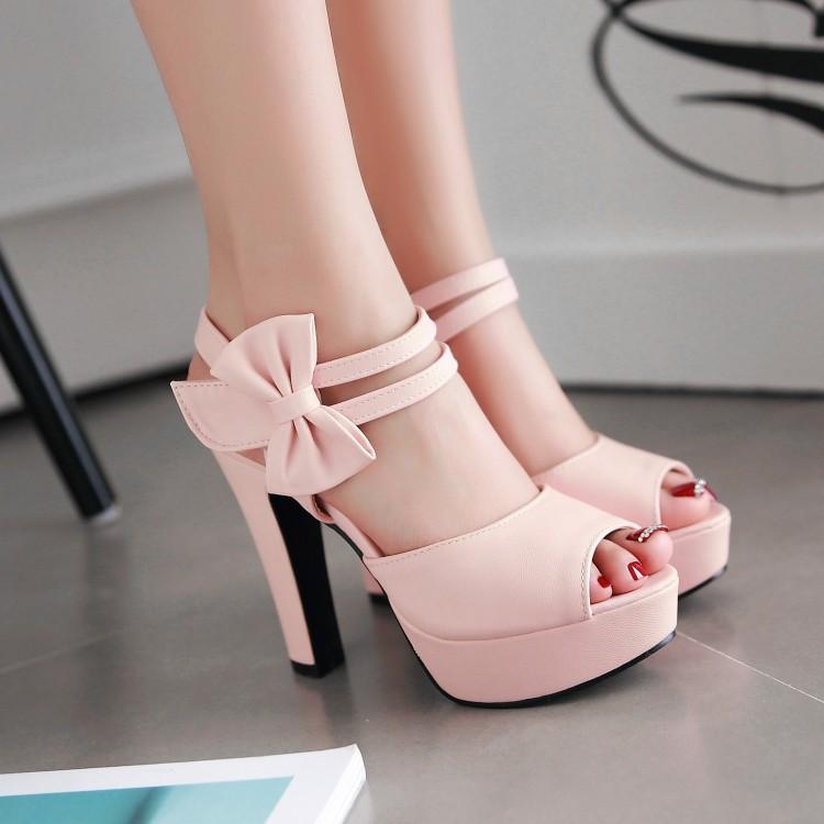 紫色凉鞋 女鞋米色粉色紫色超高跟凉鞋婚鞋伴娘小码凉鞋31 33特大码 46 ELH_推荐淘宝好看的紫色凉鞋