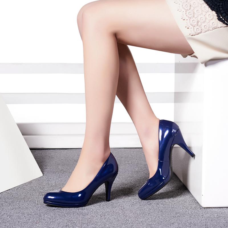 达芙妮尖头鞋 Daphne达芙妮春款OL通勤高跟鞋尖头细跟时尚漆皮亮面优雅单鞋_推荐淘宝好看的达芙妮尖头鞋