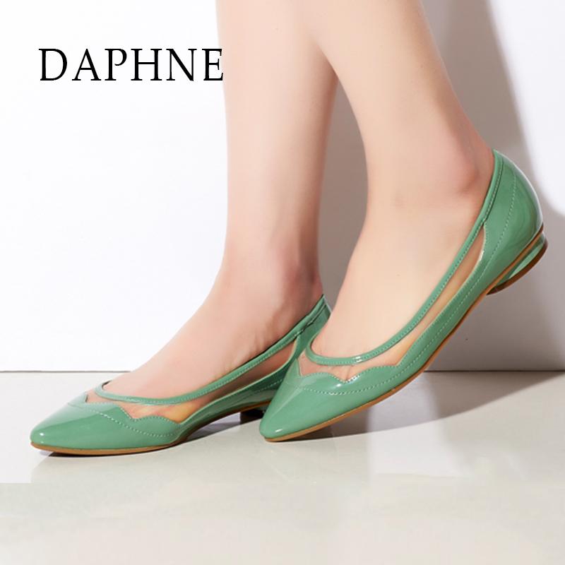 达芙妮尖头鞋 Daphne达芙妮新款女鞋 甜美网纱低跟尖头浅口单鞋1015101034_推荐淘宝好看的达芙妮尖头鞋