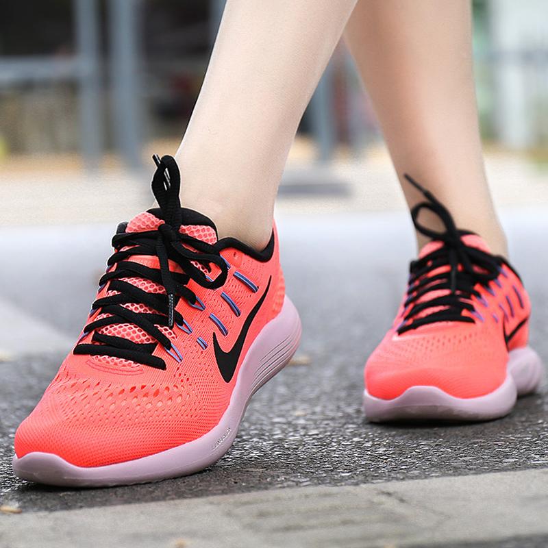 耐克运动鞋 Nike耐克女鞋2017新款飞线登月网面透气运动轻便跑步鞋843726-606_推荐淘宝好看的女耐克运动鞋