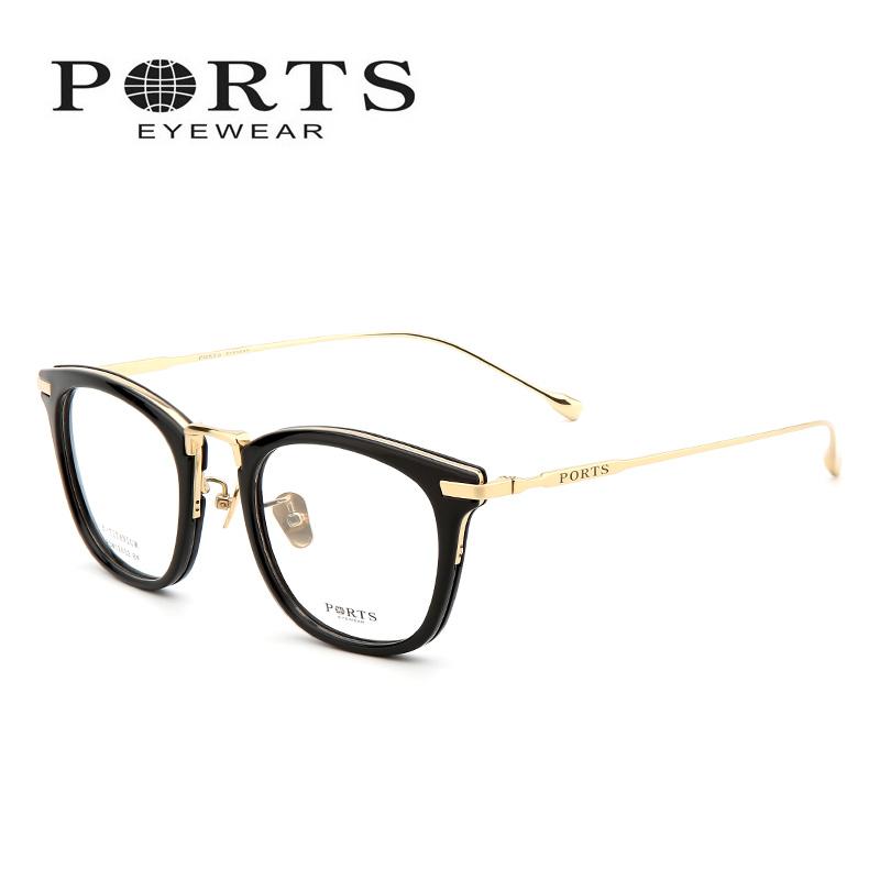 宝姿女装 Ports宝姿近视眼镜女 时尚大码全框眼镜架板材镜框男潮POM12602_推荐淘宝好看的宝姿