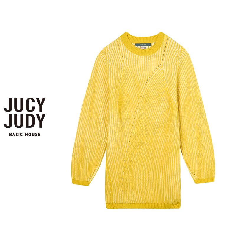 百家好女装 Jucy Judy百家好秋冬新款休闲时尚针织衫套头毛衣女韩版JPKT723F_推荐淘宝好看的百家好女