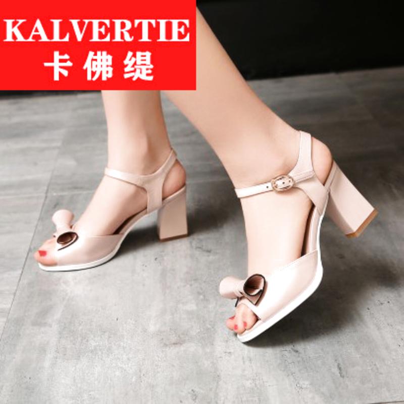 粉红色罗马鞋 欧洲站白色中跟鞋露趾时尚夏季粗跟正品女潮流粉红罗马鞋凉鞋女鞋_推荐淘宝好看的粉红色罗马鞋