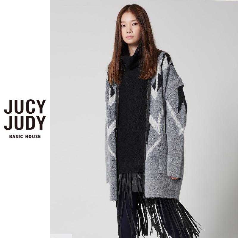 百家好针织衫 Jucy Judy百家好秋冬新款时尚休闲针织开衫外套女JPKT727F_推荐淘宝好看的百家好针织衫女