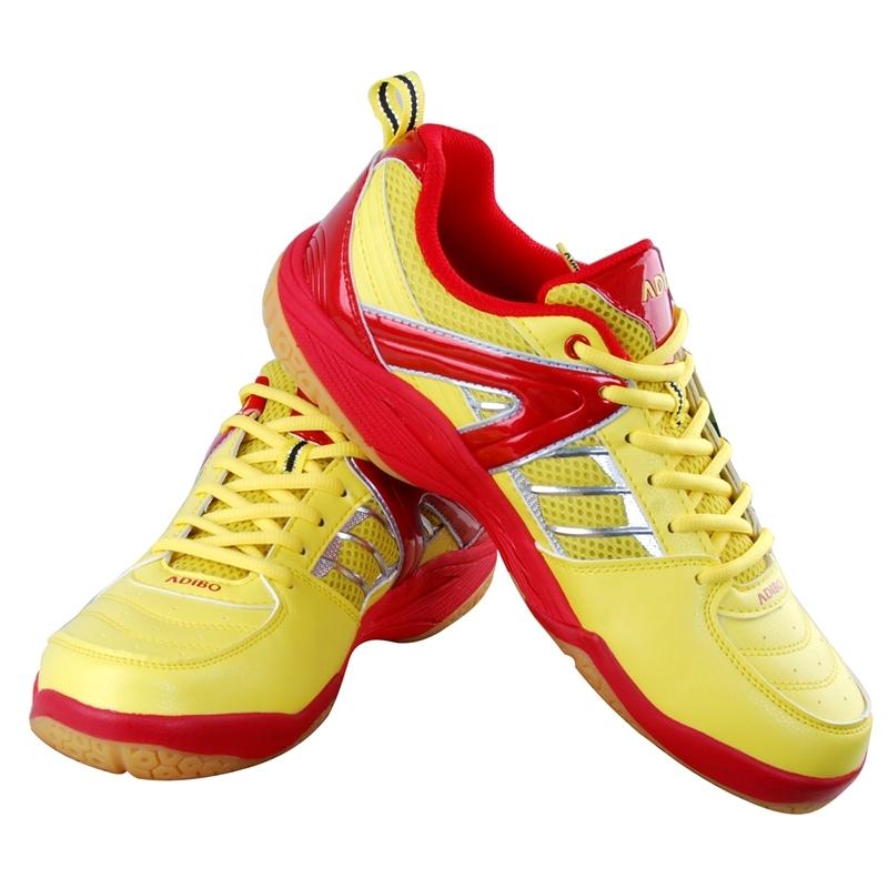 黄色运动鞋 艾迪宝正品男羽毛球鞋S100  红黄色 防滑耐磨减震运动鞋_推荐淘宝好看的黄色运动鞋