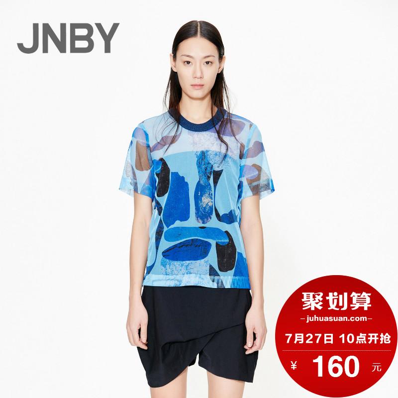 江南布衣女装 JNBY江南布衣抽象趣味图案自然科技女式T恤5F260004_推荐淘宝好看的江南布衣