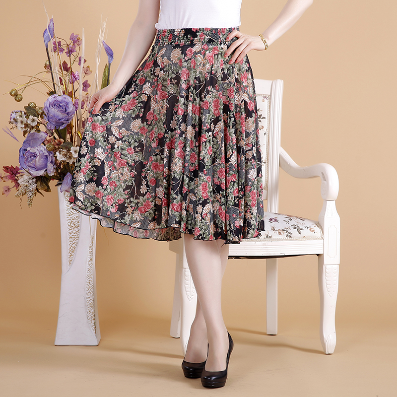 中年女半身裙 中老年裙子夏短裙中年妇女夏装40-50岁中年人女夏季妈妈装半身裙_推荐淘宝好看的中年半身裙