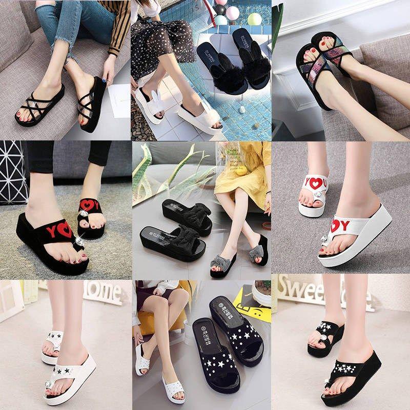 韩版坡跟鞋 拖鞋女夏韩版时尚外穿坡跟凉拖鞋女_推荐淘宝好看的韩版坡跟鞋