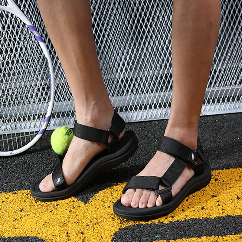 黑色罗马鞋 新款罗马凉鞋男越南厚底防滑男士黑色夏季男鞋简约外穿沙滩鞋_推荐淘宝好看的黑色罗马鞋