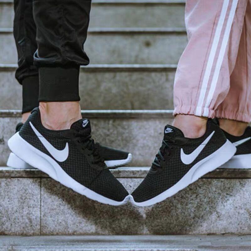 耐克老款运动鞋 Nike耐克男女鞋Tanjun奥利奥轻便运动跑步鞋透气812655 812654_推荐淘宝好看的女耐克运动鞋