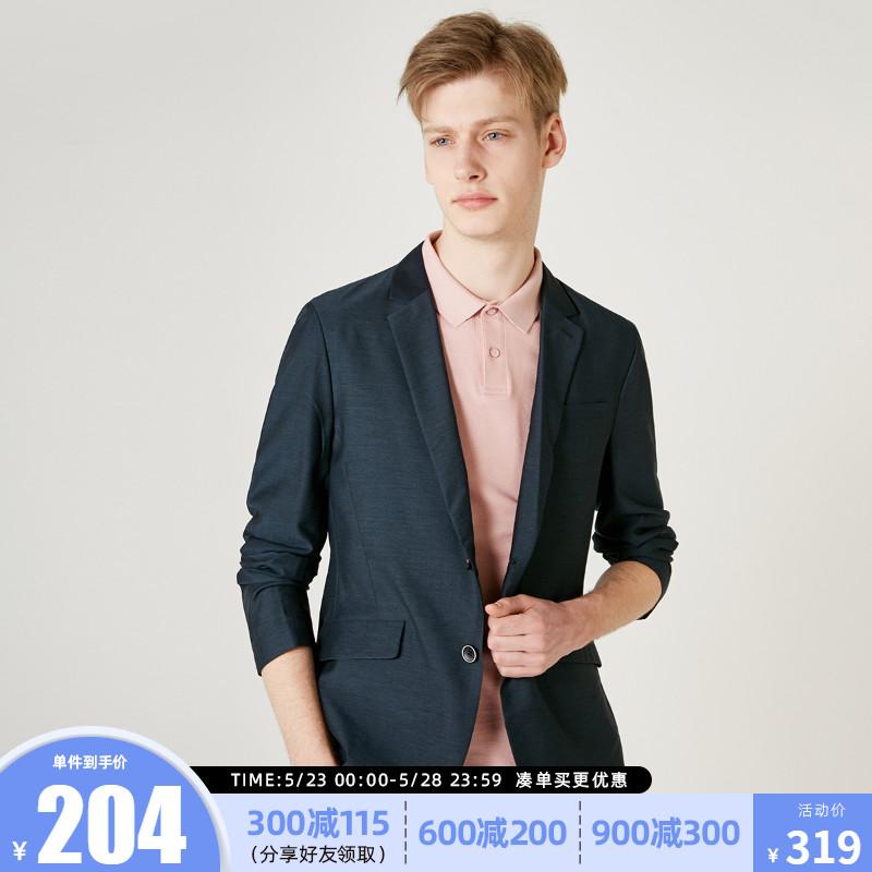 男士西装 绫致SELECTED思莱德男士纯色帅气商务休闲西装外套419208508_推荐淘宝好看的男西装