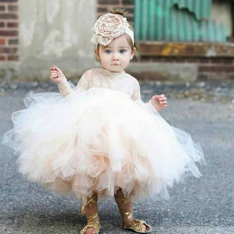 花童儿童礼服 儿童礼服公主裙女童婚纱1周岁生日花童晚礼服裙婴儿蓬蓬纱裙新款_推荐淘宝好看的花童儿童礼服