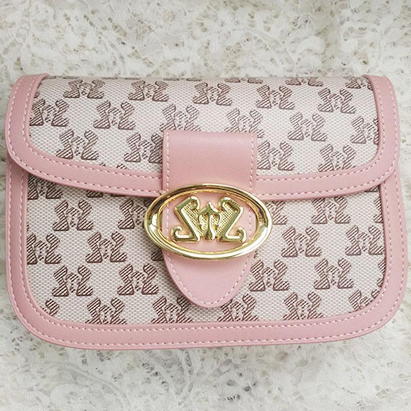 粉红色链条包 粉红色印花 PU时尚百搭格子链条单肩包斜挎包 ¥468_推荐淘宝好看的粉红色链条包